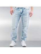 Southpole Straight Fit Jeans Ripped Slim modrý