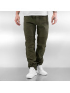 Southpole Straight fit jeans Stepp olijfgroen