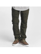 Southpole Straight fit jeans Colored Acid olijfgroen