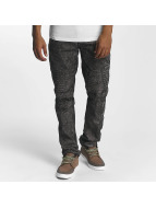 Southpole Straight fit jeans Colored Acid zwart
