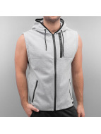Southpole Sweat à capuche zippé Sleeveless gris