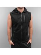 Southpole Sweat à capuche zippé Sleeveless noir