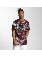 Southpole T-Shirt Camo Print Fur Technique red