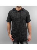 Southpole T-Shirt Slub Scallop Hoody schwarz