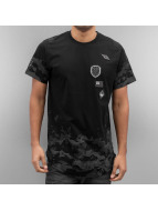 Southpole T-Shirt Scallop Patch And Print schwarz