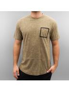 Southpole T-Shirts Slub Scallop bej