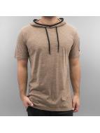Southpole T-Shirts Slub Scallop kahverengi