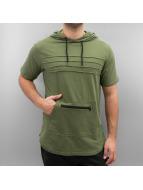 Southpole T-Shirts Hooded zeytin yeşili