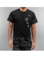 Southpole T-Shirty Scallop Patch And Print czarny