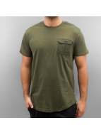 Southpole T-Shirty Whyalla oliwkowy