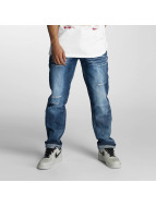 Southpole Ripped Slim Straight Jeans Ice Blue
