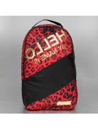Sprayground Sac à Dos Hello Leopard rouge