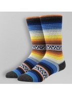 Stance Socks Blue Sun Burst orange