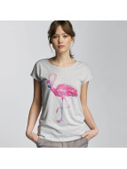 Stitch & Soul T-Shirt Flamingo grau