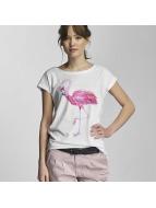 Stitch & Soul t-shirt Flamingo wit