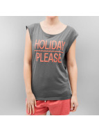 Stitch & Soul T-Shirty Holiday szary