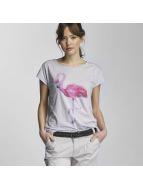 Stitch & Soul Tričká Flamingo fialová