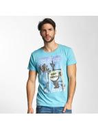Sublevel Camiseta Surf Beach azul