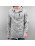 Sublevel Sweat à capuche zippé Kaschba gris