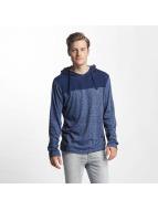 Sublevel T-Shirt manches longues Two-Tone bleu