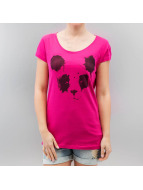 Sublevel T-Shirt Panda pink