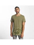 Sublevel T-Shirty Camouflage Print oliwkowy