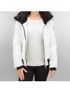 Sublevel Veste d'hiver Fake Fur blanc
