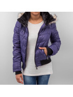 Sublevel Winterjacke Fake Fur blau