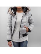 Sublevel Winterjacke Fake Fur grau