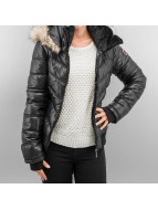 Sublevel Winterjacke Fake Fur schwarz
