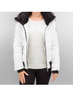 Sublevel Winterjacke Fake Fur weiß