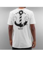 The Dudes T-Shirts Anchor beyaz