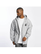 The Hundreds Zip Hoodie Forever Simple Adam grau