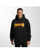 Thrasher Sweat à capuche Flame noir