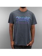 Thrasher t-shirt Flame grijs