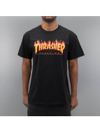 Thrasher T-Shirt Flame noir