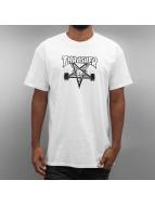 Thrasher T-skjorter Skategoat hvit