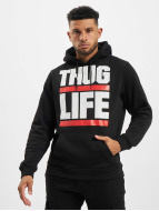 Thug Life Basic Felpa con cappuccio Block Logo grigio