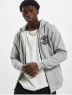 Thug Life Basic Zip Hoodie Skull grey