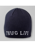 Thug Life Beanie College Plain blau