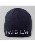 Thug Life Beanie College Plain blauw