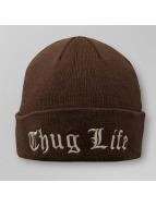 Thug Life Beanie NYLA Folded braun