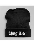 Thug Life Beanie Logo schwarz