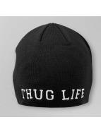 Thug Life Beanie College Plain schwarz