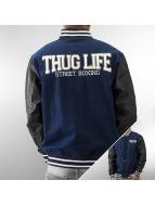 Thug Life College Jacke Street Boxing blau