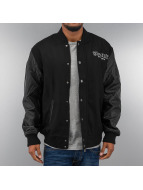 Thug Life College Jacket Street Fighting black