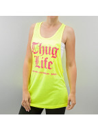 Thug Life Débardeurs Logo-Print jaune