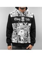 Thug Life Hoody Broon weiß