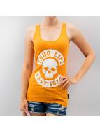 Logo Print Top Orange...
