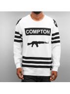 Thug Life Pullover Compton blanc